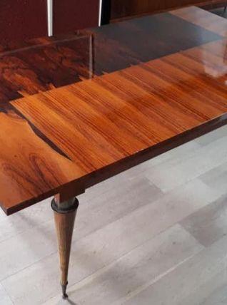 Table en acajou et palissandre des années 70'
