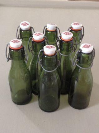 Lot de 8 bouteilles Bülach vintage