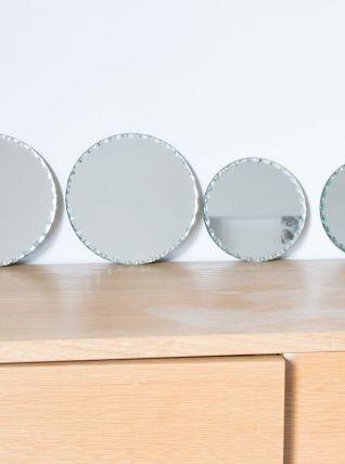 Lot de 4 miroirs biseautés