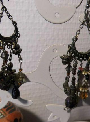 Boucles d'oreilles pendantes 70'