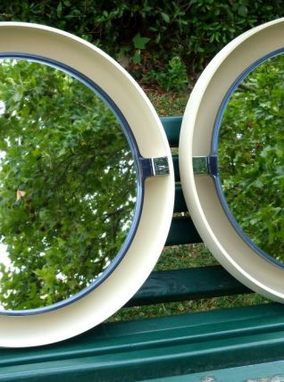 Rares miroirs pivotants et rétro éclairés Allibert années 70
