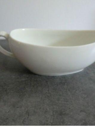 Ancien Bourdaloue en porcelaine blanche fin XIXe
