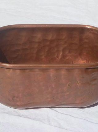 jardinière  en  cuivre  ,  vintage