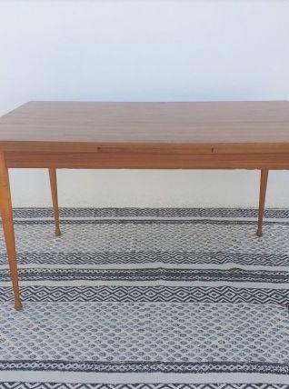 Table à manger scandinave teck vintage années 60