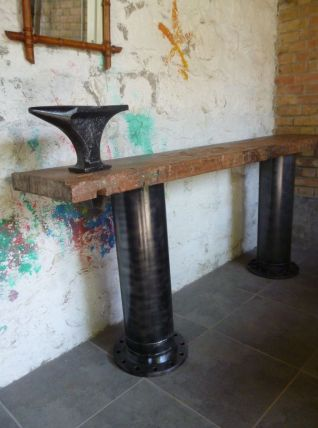 CONSOLE - TABLE - ETABLI - INDUSTRIEL - ENCLUME BIGORNE