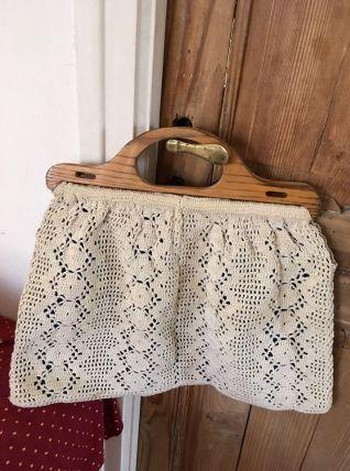 Sac vintage au crochet.