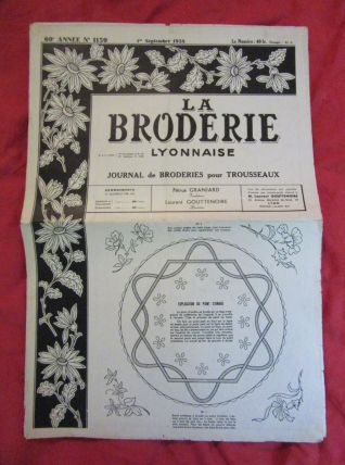 patron La Broderie Lyonnaise 1958