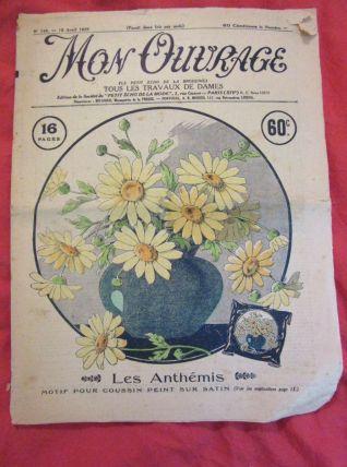 revue Mon Ouvrage déco dentelle broderie 1929