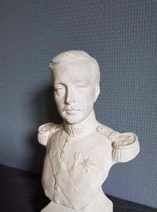 buste en plâtre blanc Albert roi des belges