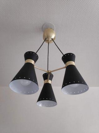 lustre 3 diabolos style des créations des années 50