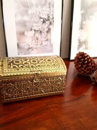 """Jolie boîte en métal vintage """"Victoria"""""""