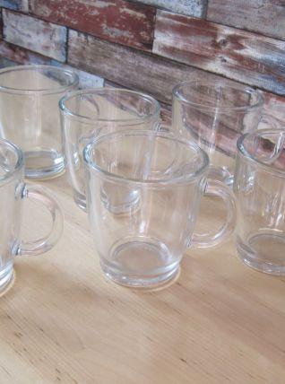 6 verres chope de bière