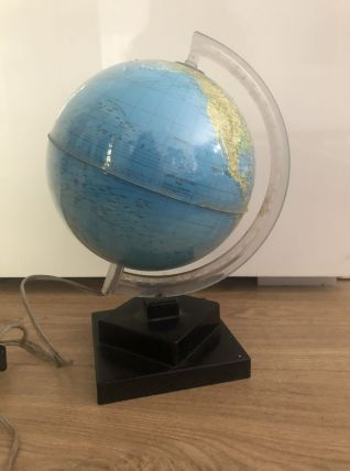 Petit Globe terrestre lumineux années 60