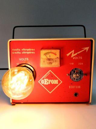 """Lampe industrielle, lampe vintage - """"Chargée à bloc !"""""""