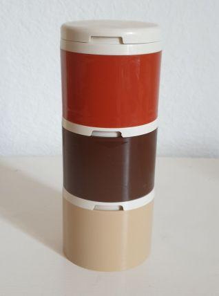 Set 3 pots à condiments ou épices.  Tupperware