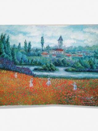 Tableau paysage de coquelicots
