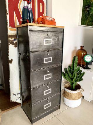 Ancien meuble metal à clapets RONEO vintage
