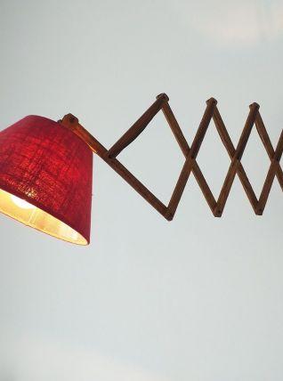 Lampe accordéon scandinave années 60 teck