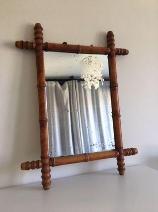 Miroir bambou vintage