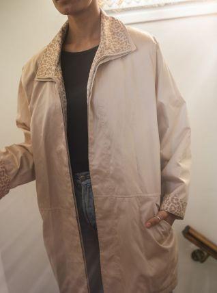 Manteau beige léger vintage