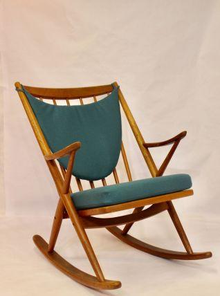 Chaise à bascule en teck , Franck Reensskaug pour Bramin, 19