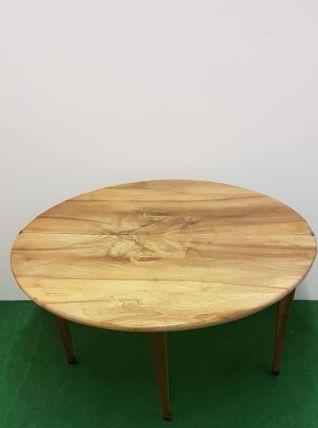Table console demie lune en noyer