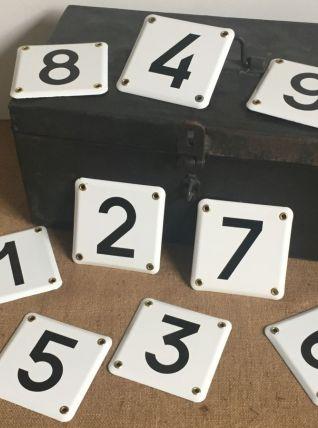 Jeu de 9 plaques émaillées ( de 1 à 9)