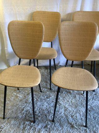 Set de 4 Chaises design pieds compas – années 50