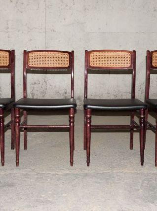 Série de 4 chaises espagnoles Mocholi, années 60/70