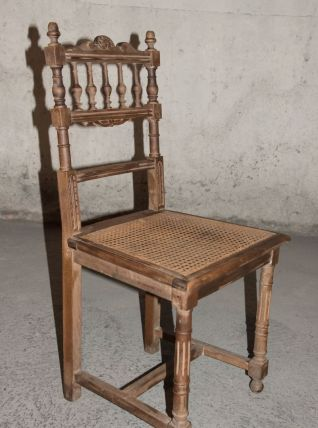 Chaise cannée fin XIXème siècle