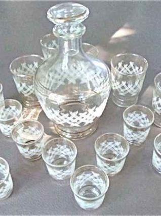 Carafe et verres à liqueur années 70