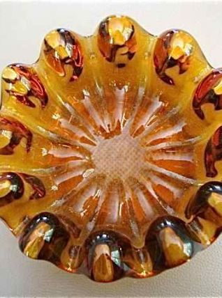 Coupe déco en verre ambre
