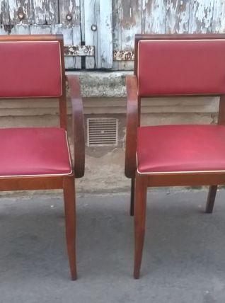 Paire de fauteuils bridge art déco