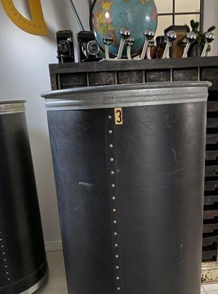 Ancien bac tube d'atelier textile caisse industrielle SUROY