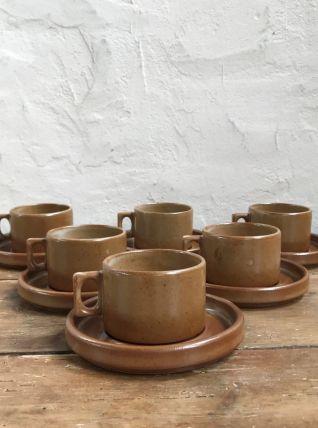 Service à café en grès de Brenne