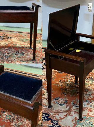 Tabouret de piano en acajou - années 30