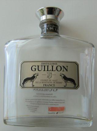 Bouteille whisky vide + boite GUILLON reims