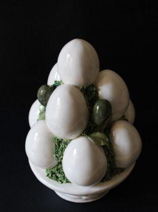 Panier d'oeufs en céramique