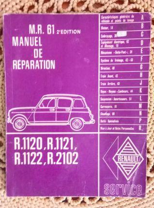 Manuel de réparation MR 61 pour Renault 4 -1963