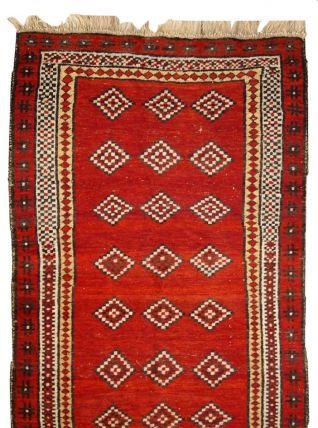 Tapis ancien Ouzbek Gulyam fait main, 1C278