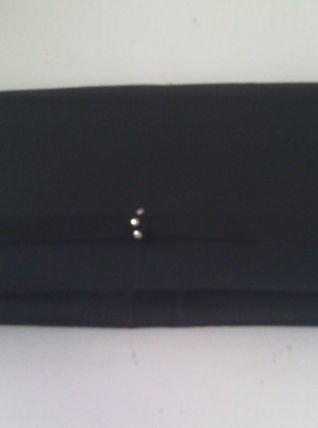 Pochette noir en tissu