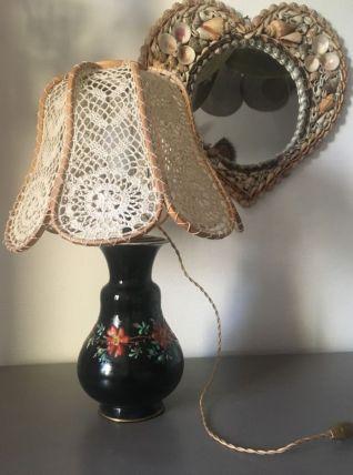 Lampe vintage abat jour crochet