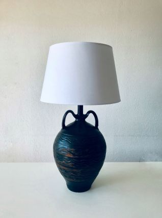 Grande lampe terre cuite avec anses
