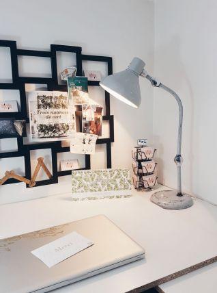 Lampe Atelier JUMO GS1 grise style JIELDE Lampe bureau Indus
