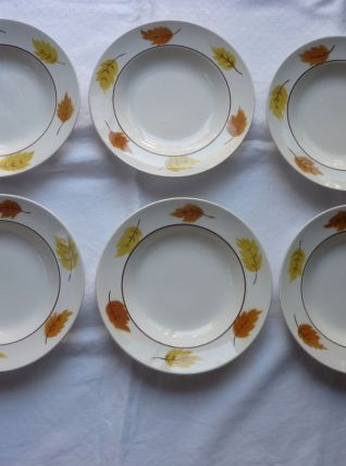 6 assiettes creuses Orchies