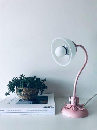 Lampe fleurs rose