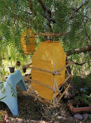 Lanternes en bambou et tissu lin