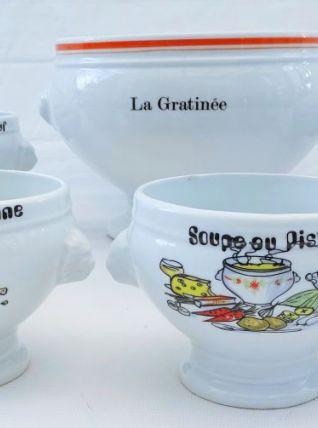 Service à soupe en porcelaine de Chauvigny