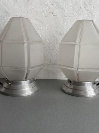 LOT 2 LAMPES DE CHEVET ART-DECO VINTAGE