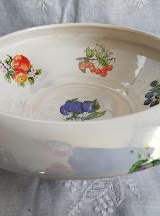 Ancien  coupe / pot céramique irisée vintage